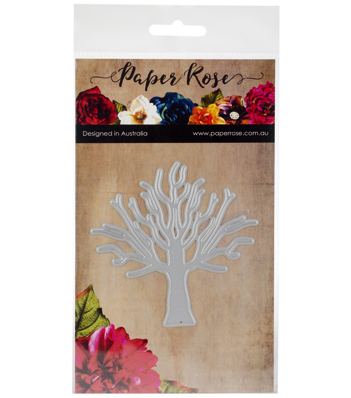 Paper Rose Large Metal Die-Tree
