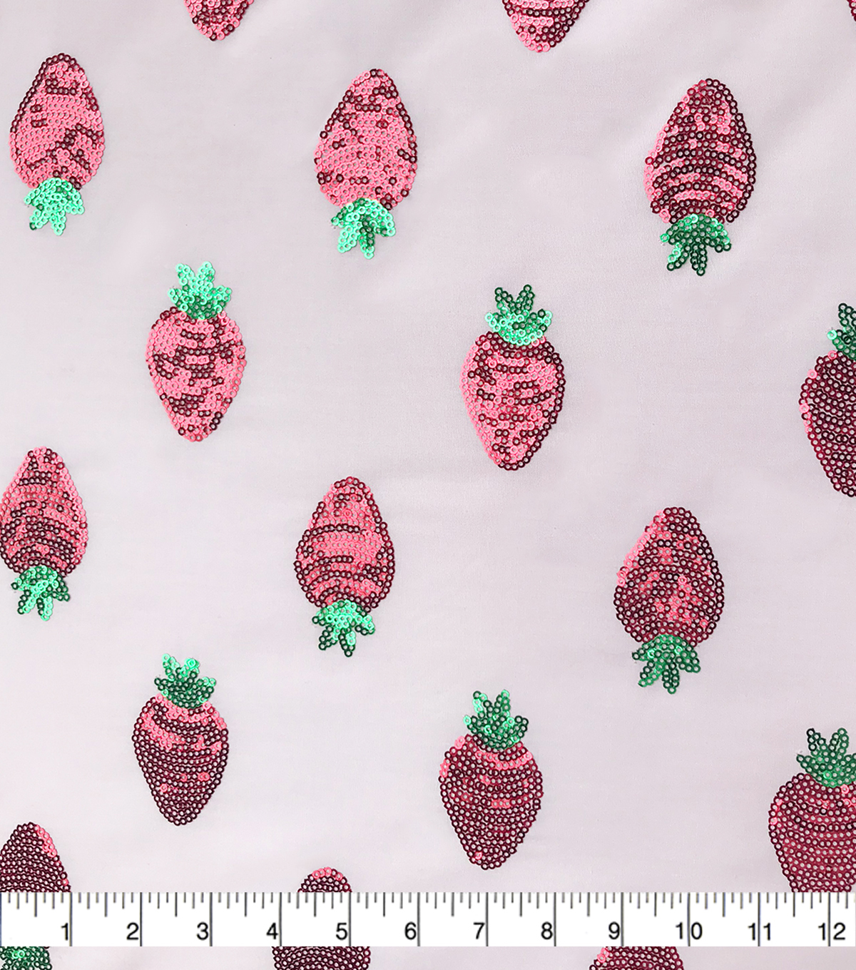 Sew Sweet Dahlia Polyester Fabric-Summer Strawberry