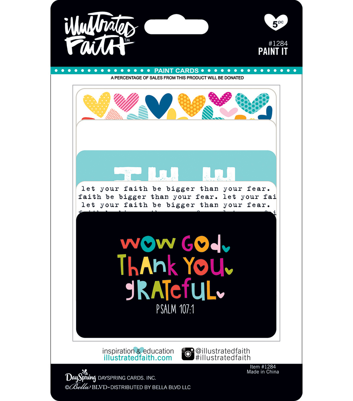 Illustrated Faith Basics 5 pk 3.38\u0027\u0027x2.13\u0027\u0027 Paint Cards
