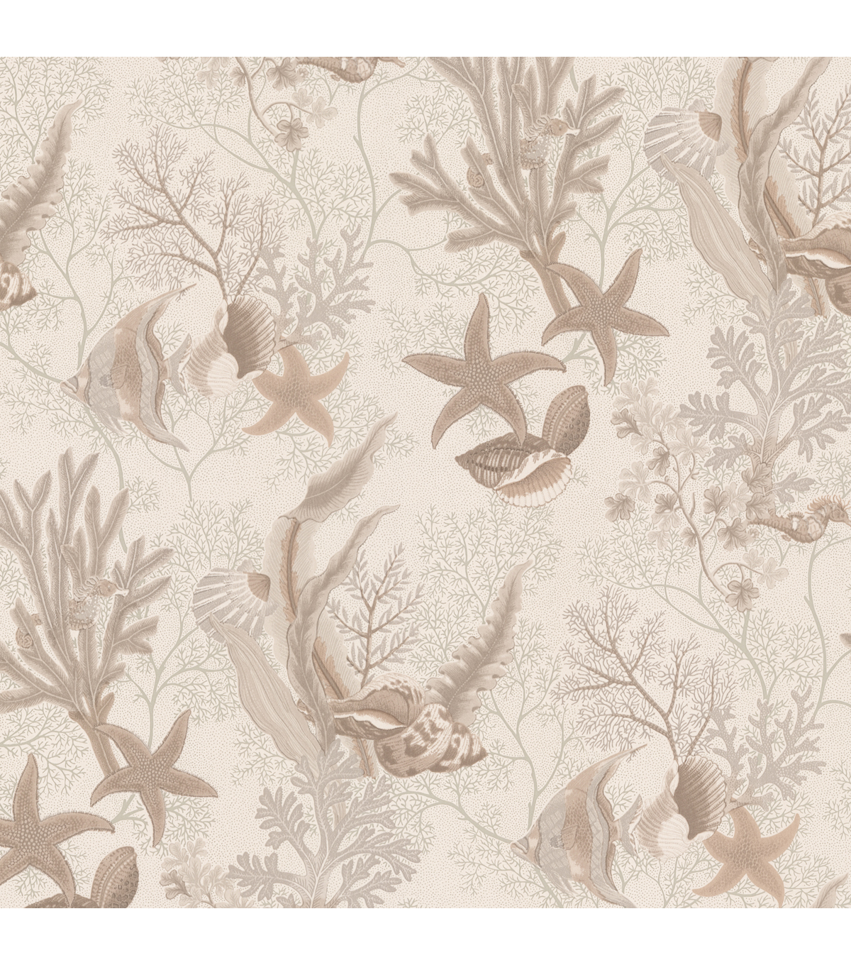 Percival Beige Ocean Scenic Wallpaper Sample