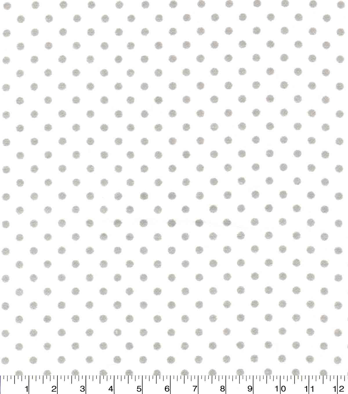 Quilter\u0027s Flannel Fabric-Dots Gray On White