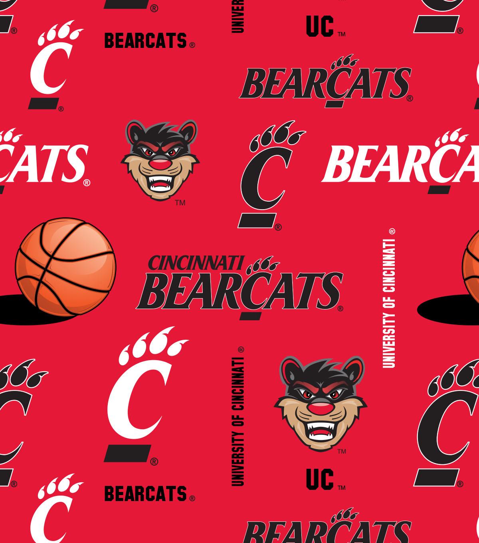 University of Cincinnati Bearcats Fleece Fabric 58\