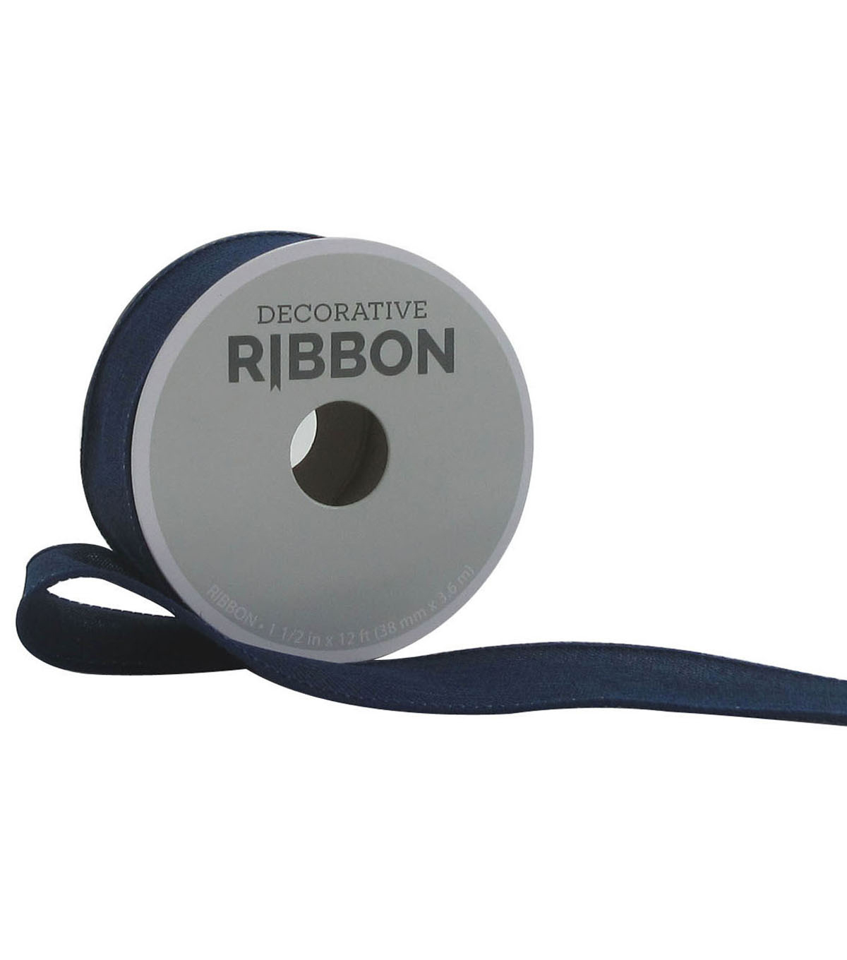 Decorative Ribbon 1.5\u0022 Solid Linen Ribbon-Navy