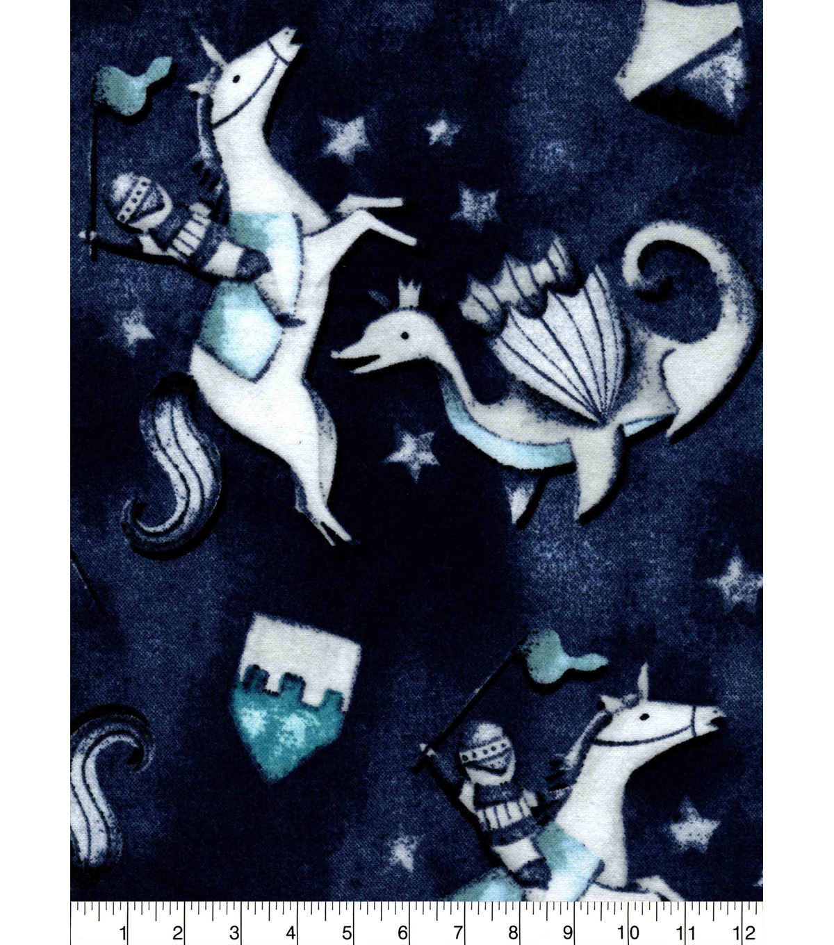 Snuggle Flannel Fabric -Knights & Dragons