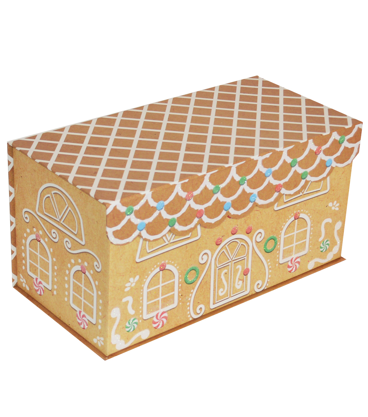 Christmas Large Storage Box-Gingerbread House