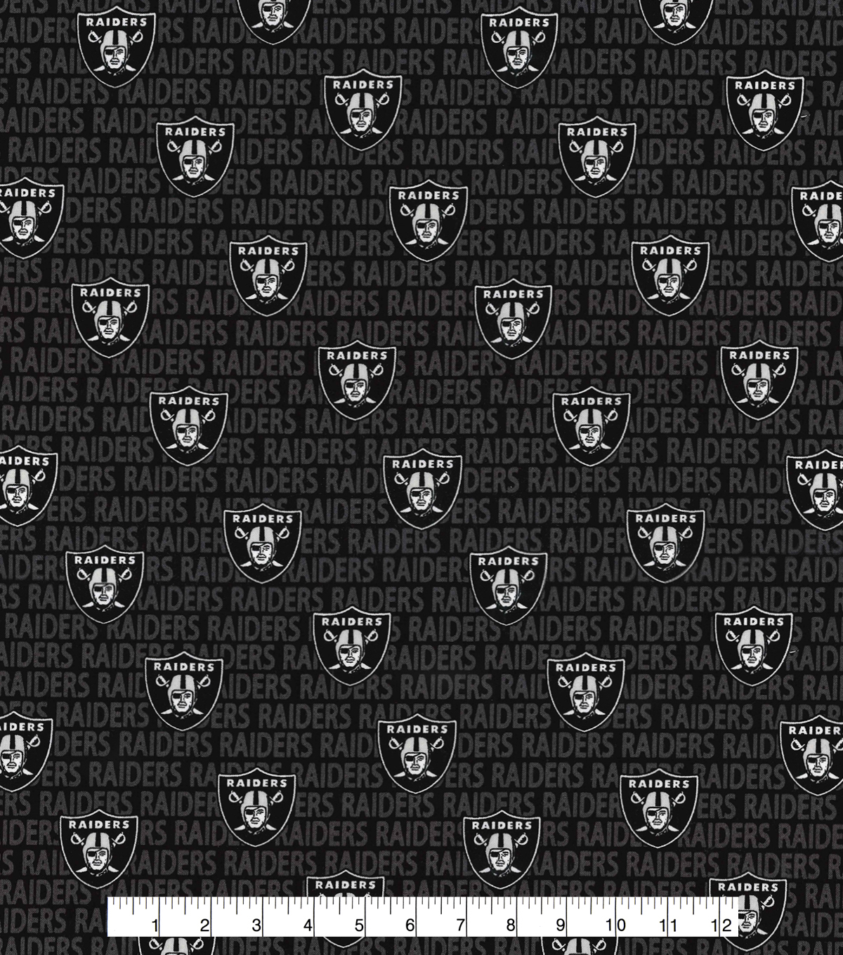 Oakland Raiders Cotton Fabric -Mini Print