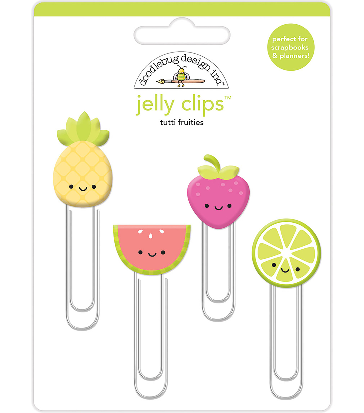 Doodlebug Design 4 pk Jelly Clips-Tutti Fruities