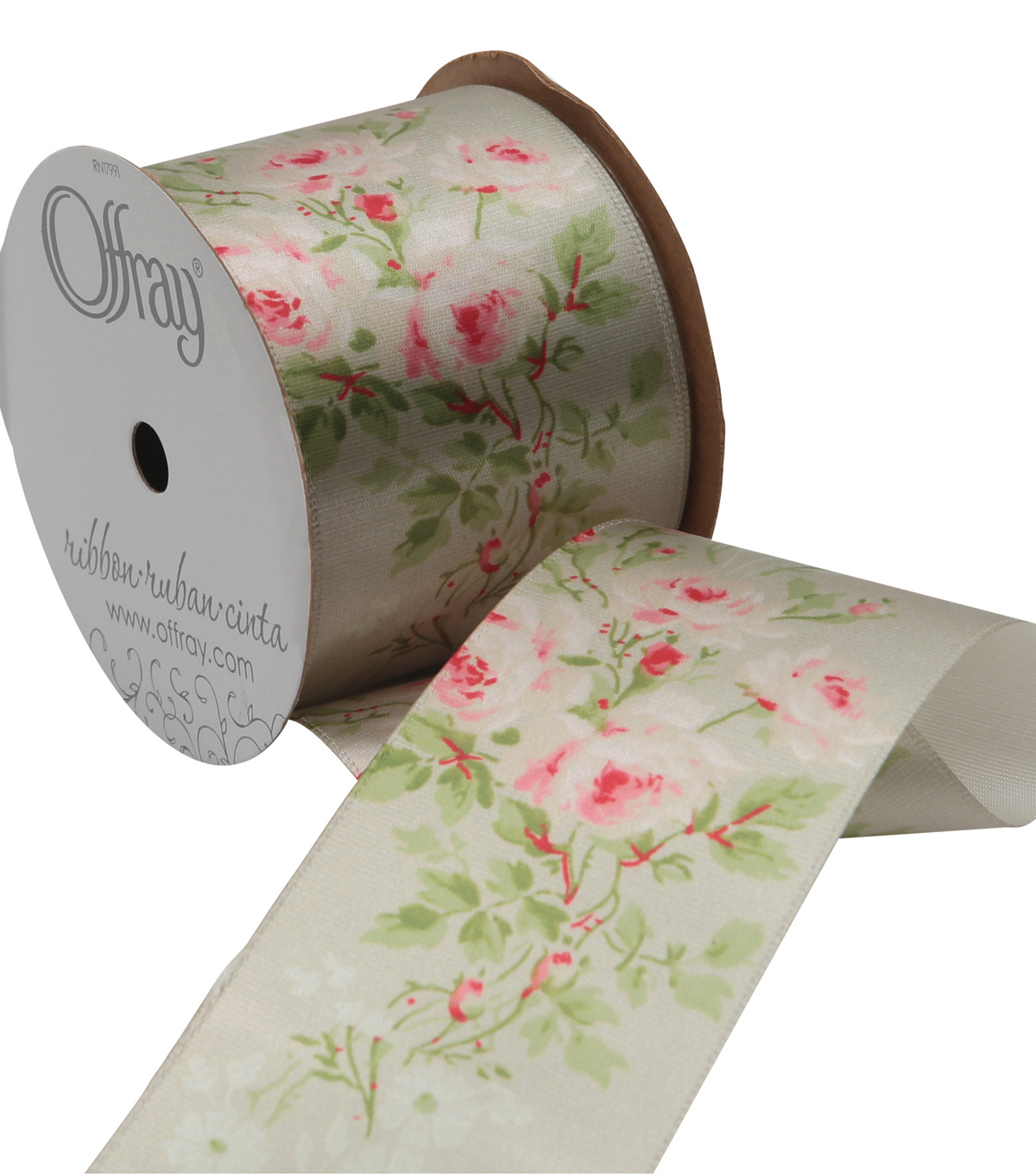 2 And One Qtr Asian Garden Floral 1 Ribbon