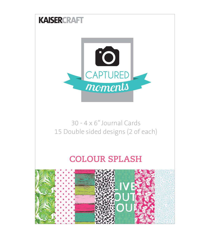 kaisercraft captured moments colour splash double sided cards 6 x4