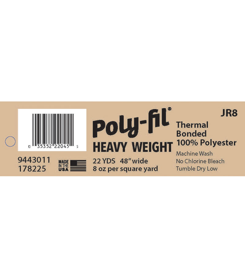 Fairfield Heavy-Weight 8oz. Bonded 100% Polyester Batting  48?x22 Yard Roll