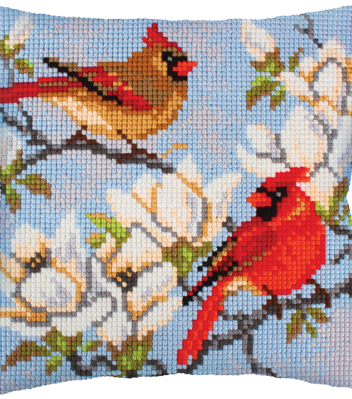 Stamped Needlepoint Cushion Kit 40X40cm-On A Branch Magnolia