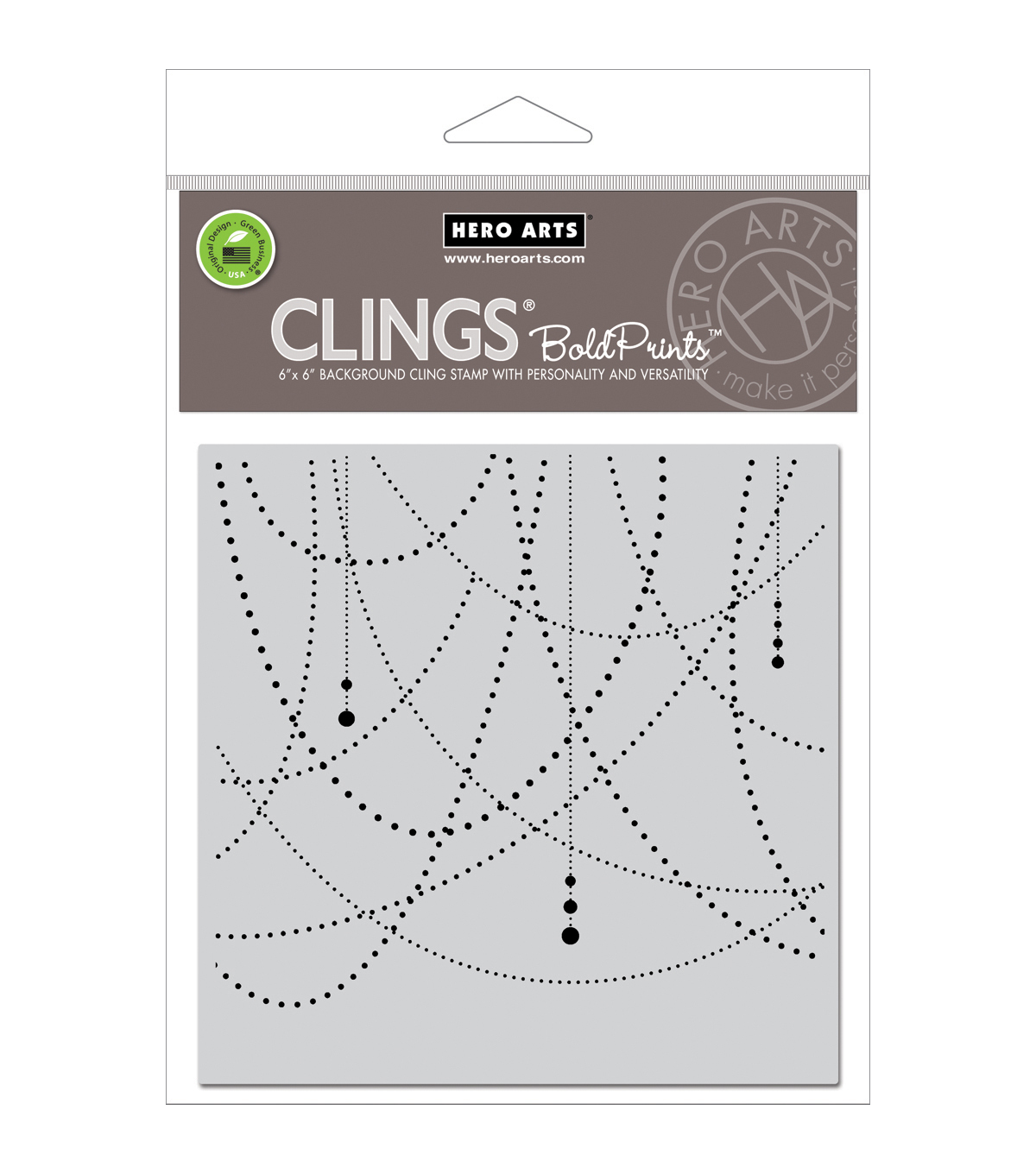 Hero Arts Cling Stamps-Garland Bold Prints