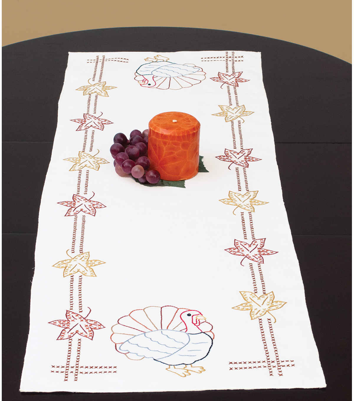 Jack Dempsey Stamped Table Runner/Scarf Thanksgiving
