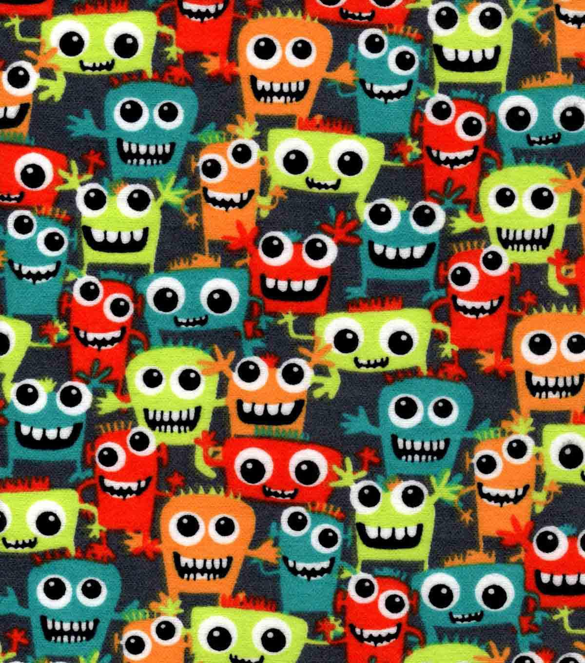 Snuggle Flannel Fabric -Friendly Monsters