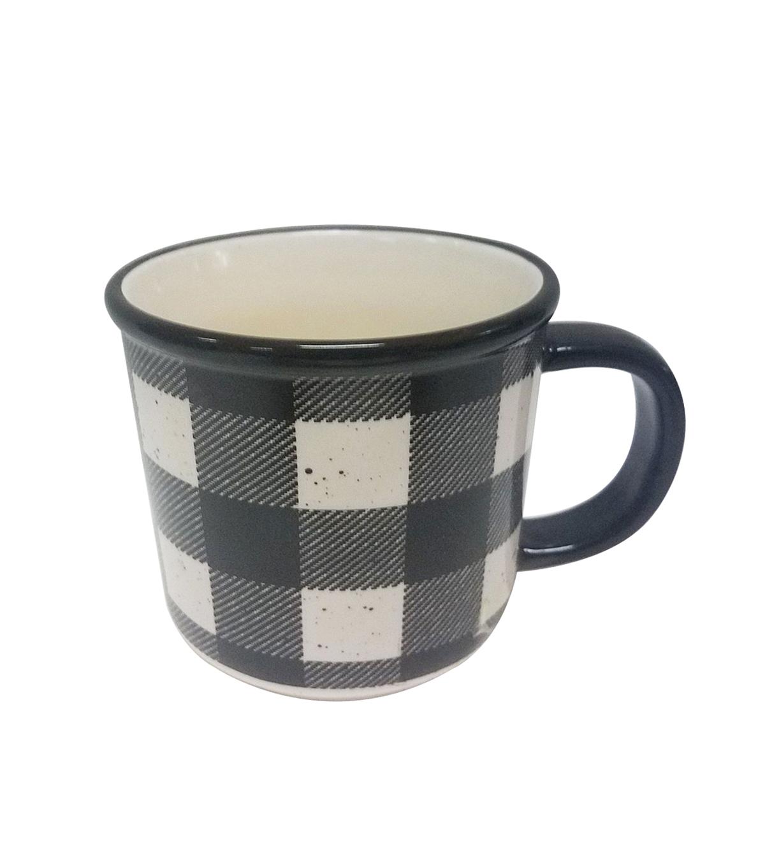 Makers Holiday Christmas Buffalo Check Mug Black White Joann