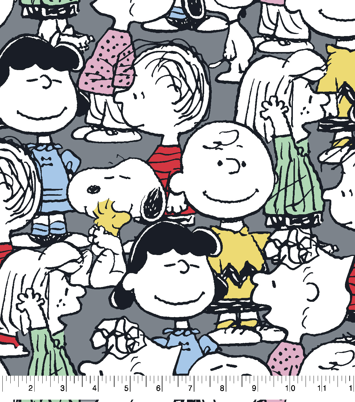 Peanuts Fleece Fabric-Peanuts All Over