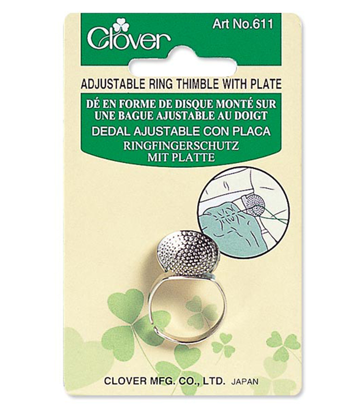 Clover Ring Thimble with Plate
