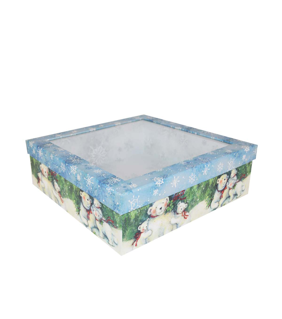 Christmas Large Window Storage Box-Polar Bear