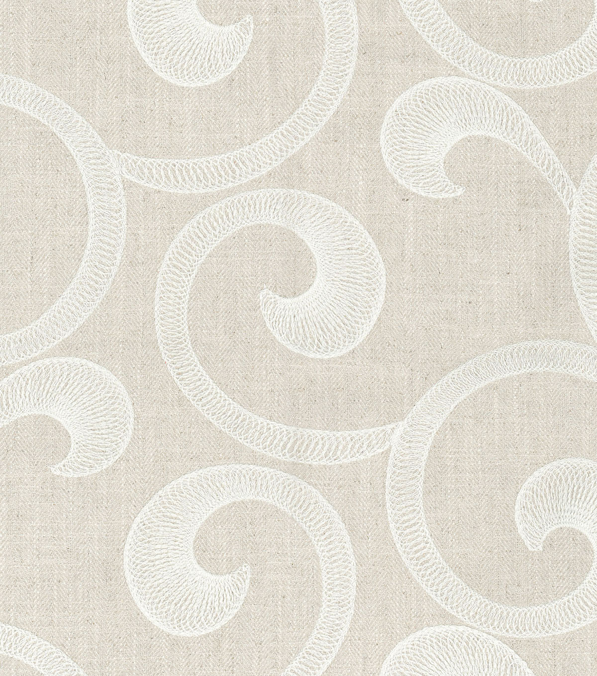 Williamsburg Multi-Purpose Decor Fabric-Hampton Scroll/Alabaster