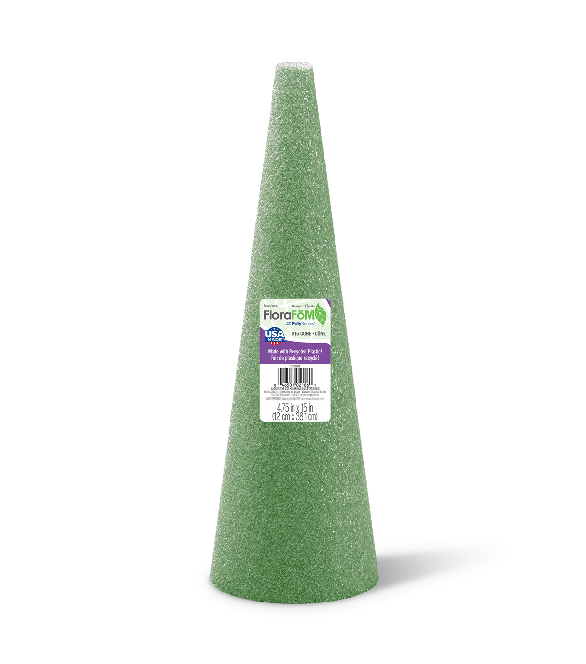 15X5In Foam Cone Green