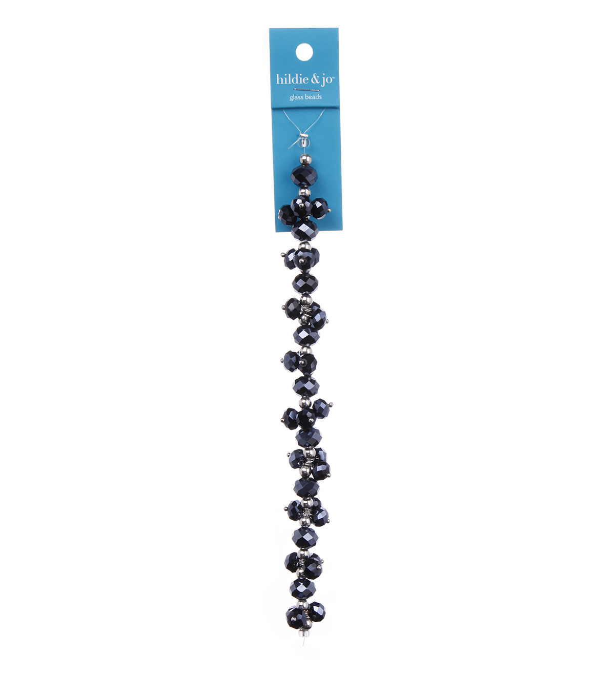Blue Moon Beads 7\u0022 Crystal Strand, Dangles, Hematite