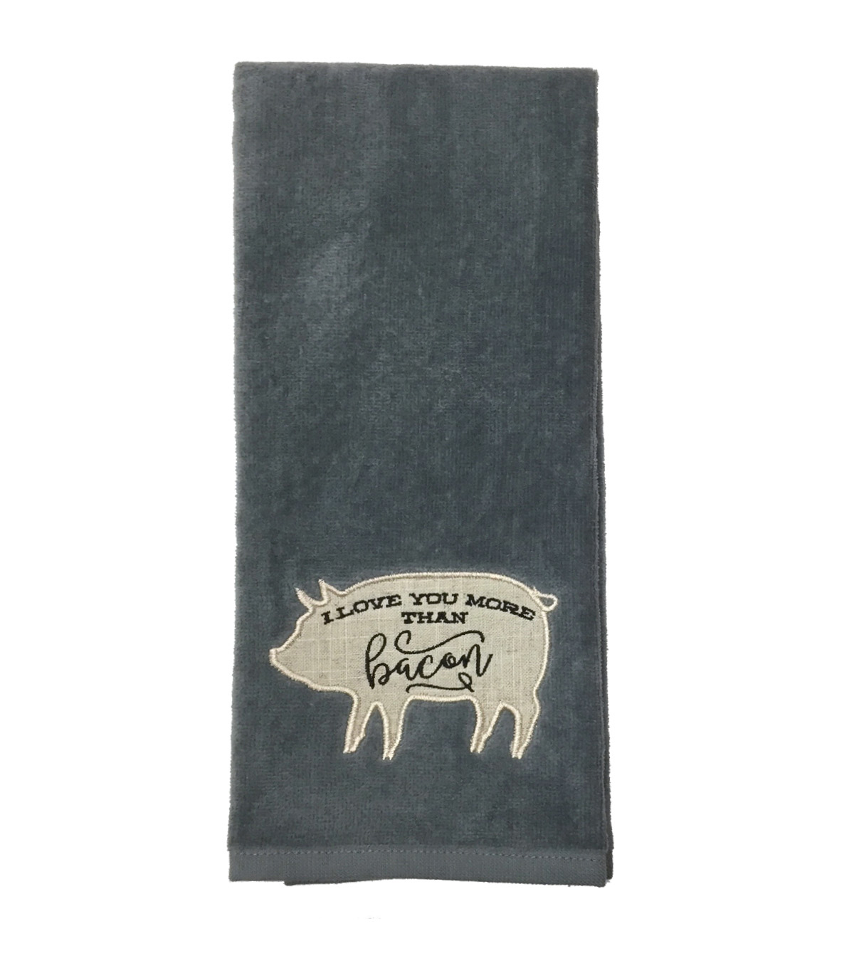 Hudson 43 Farm 16\u0027\u0027x28\u0027\u0027 Terry Towel-I Love You More Than Bacon