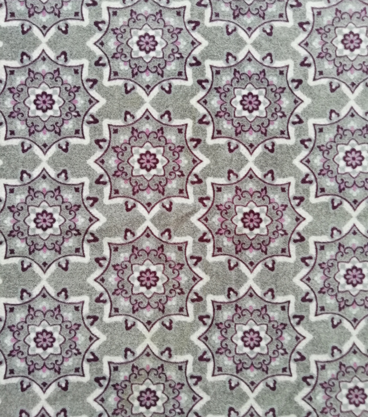 Luxe Fleece Fabric-Gray Purple Tile