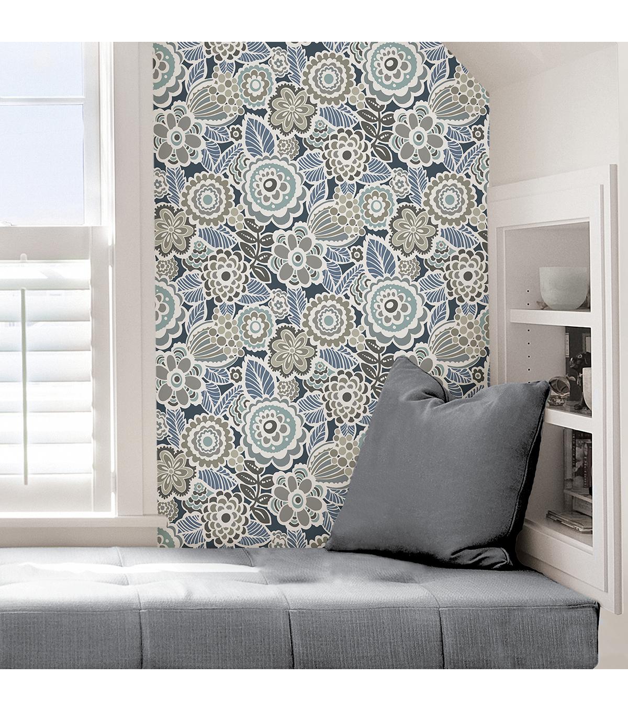 Wallpops Peel Stick Wallpaper Dream On Navy Joann