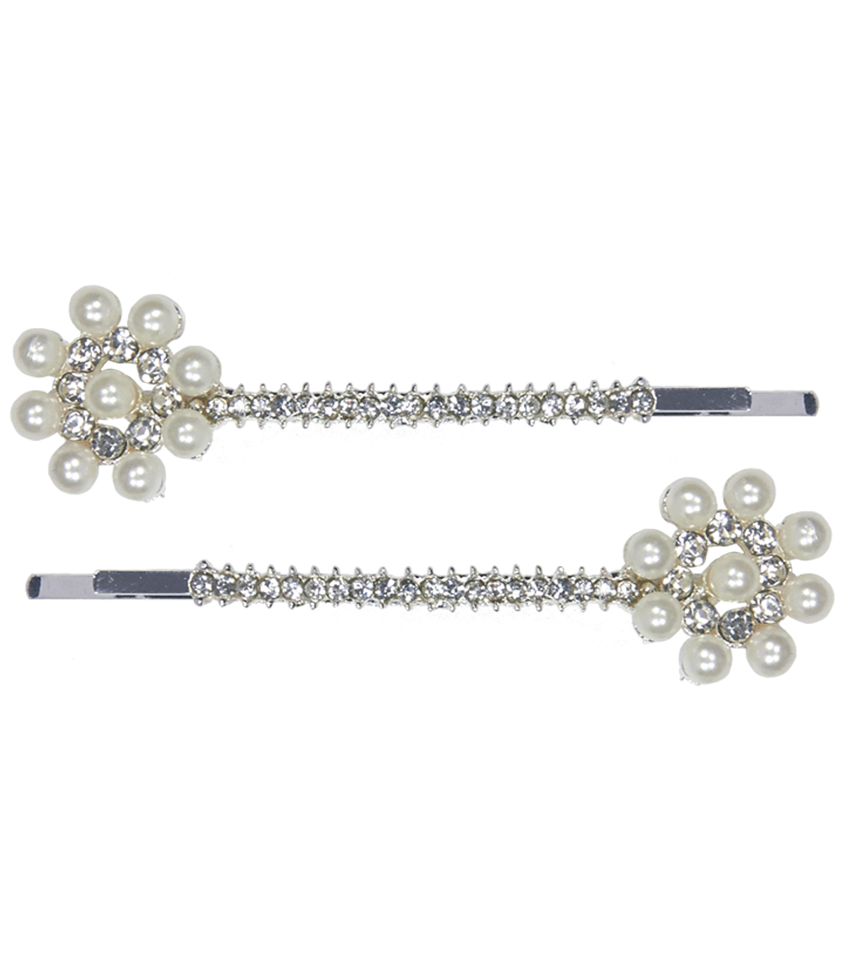 Save The Date Pack of 2 Pearl & Rhinestone Bobby Pins