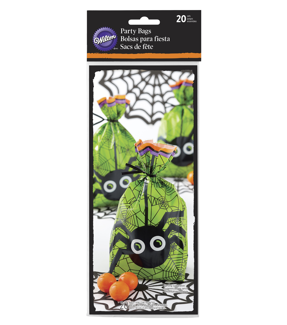 Wilton 20ct Halloween Spider Party Bags