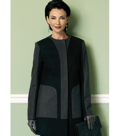 Butterick Pattern B6421 Misses\u0027 Collar or Collarless Coats-Size 6-14