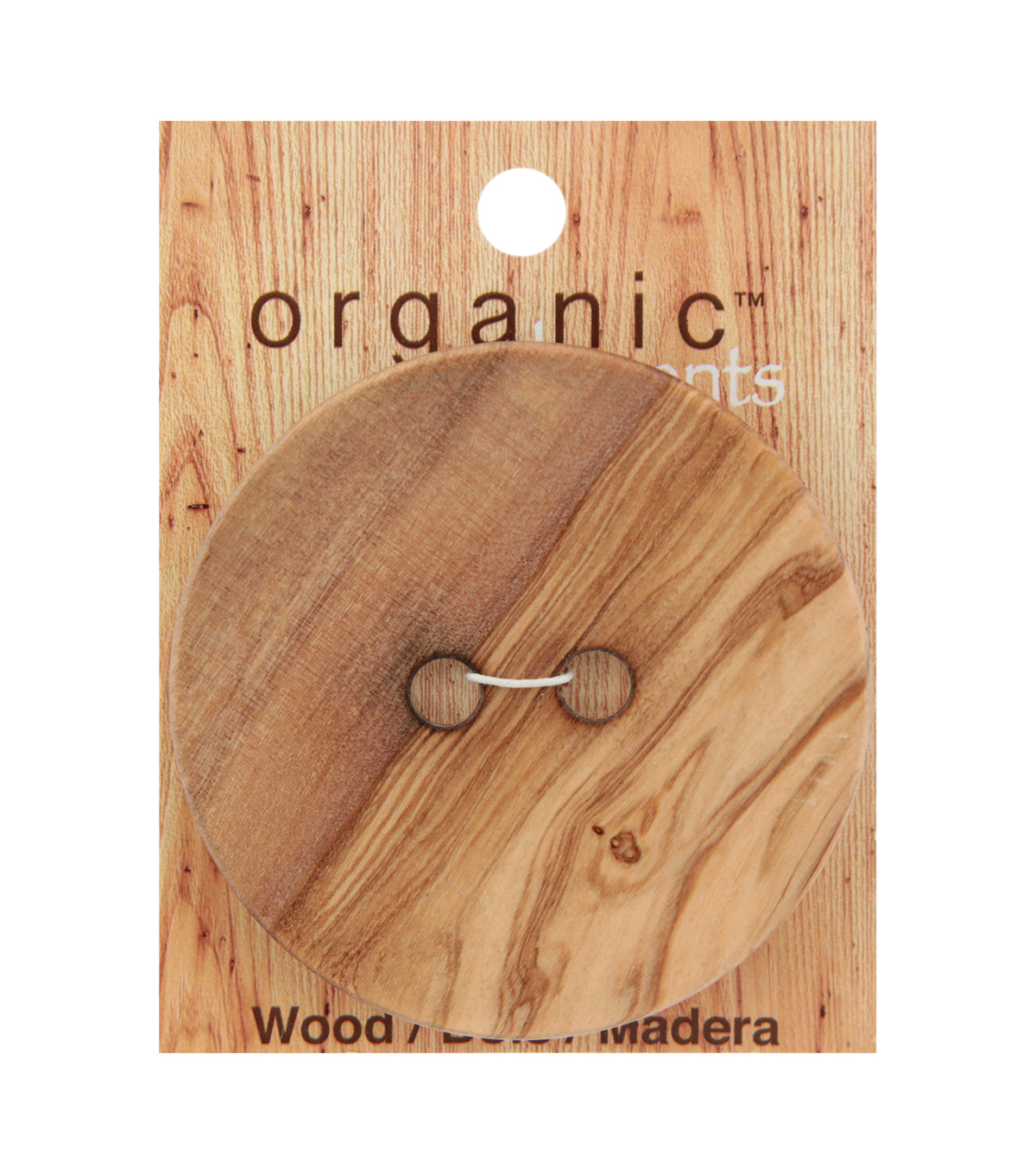 Organic Elements Extra Large Wood 2 Hole Button