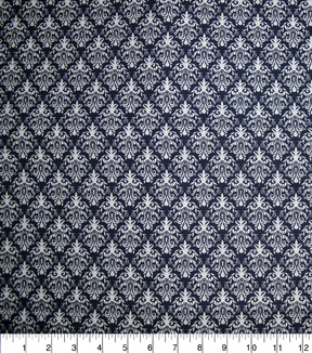 Quilter\u0027s Showcase Fabric -Navy Damask