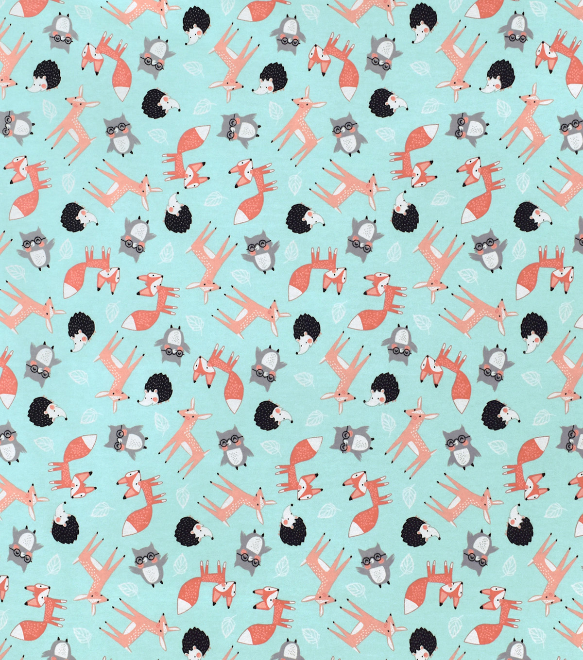 Snuggle Flannel Fabric-Wilderness Friends Tossed