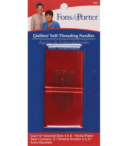 Fons & Porter Self Threading Needle 12pcs Sizes 4, 6 & 8