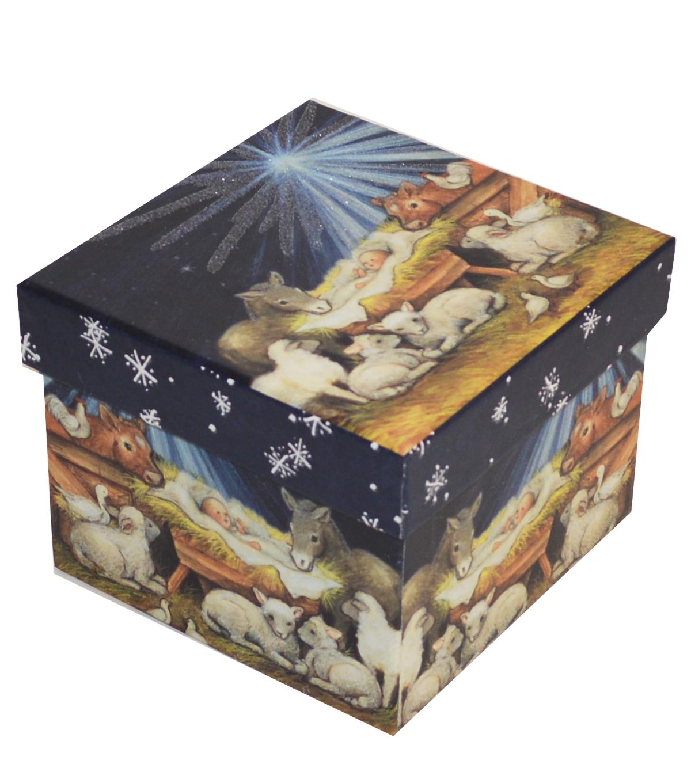 Christmas Small Square Storage Box Nativity
