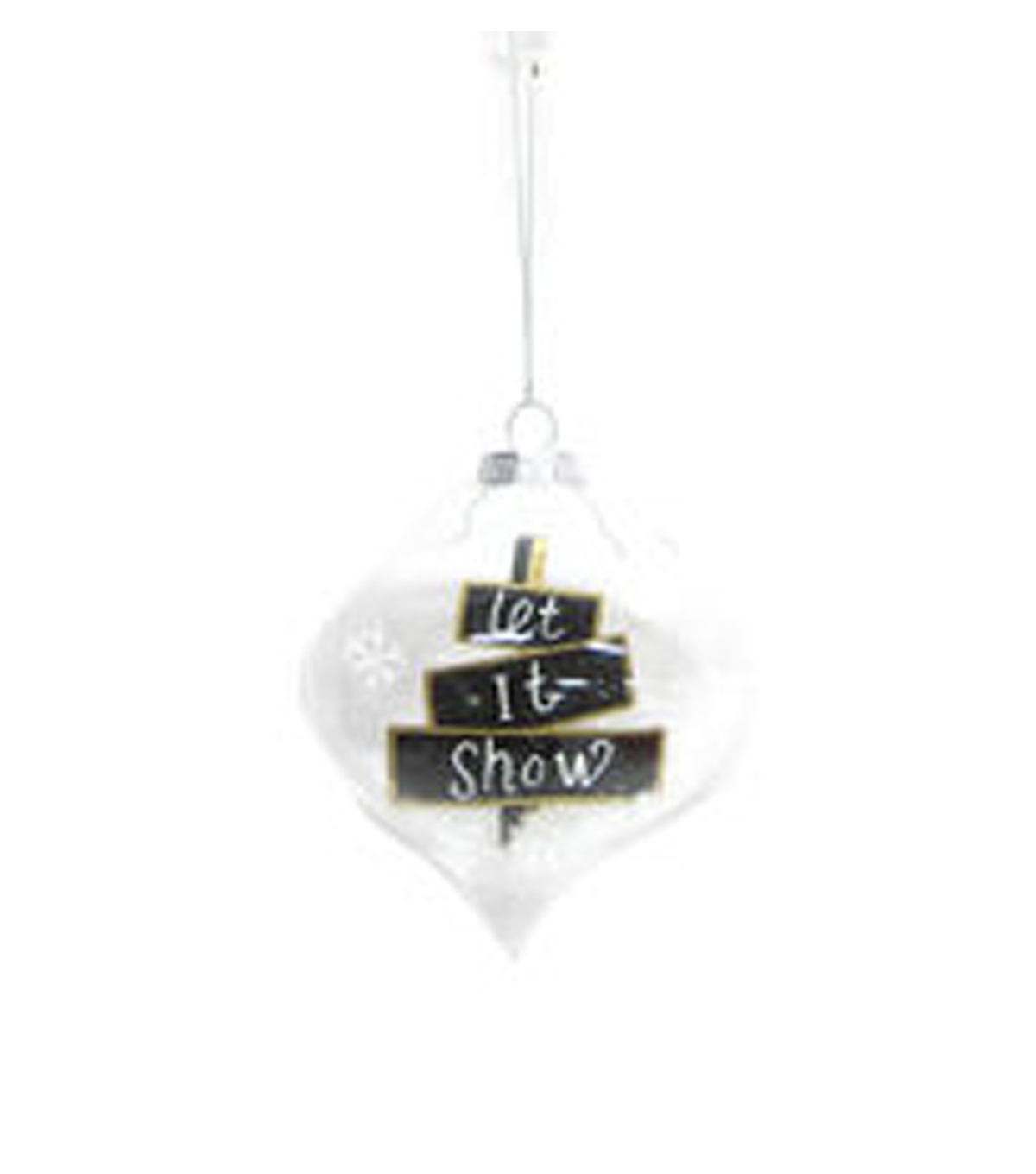 Holiday Cheer Let It Snow In Glass Ornament