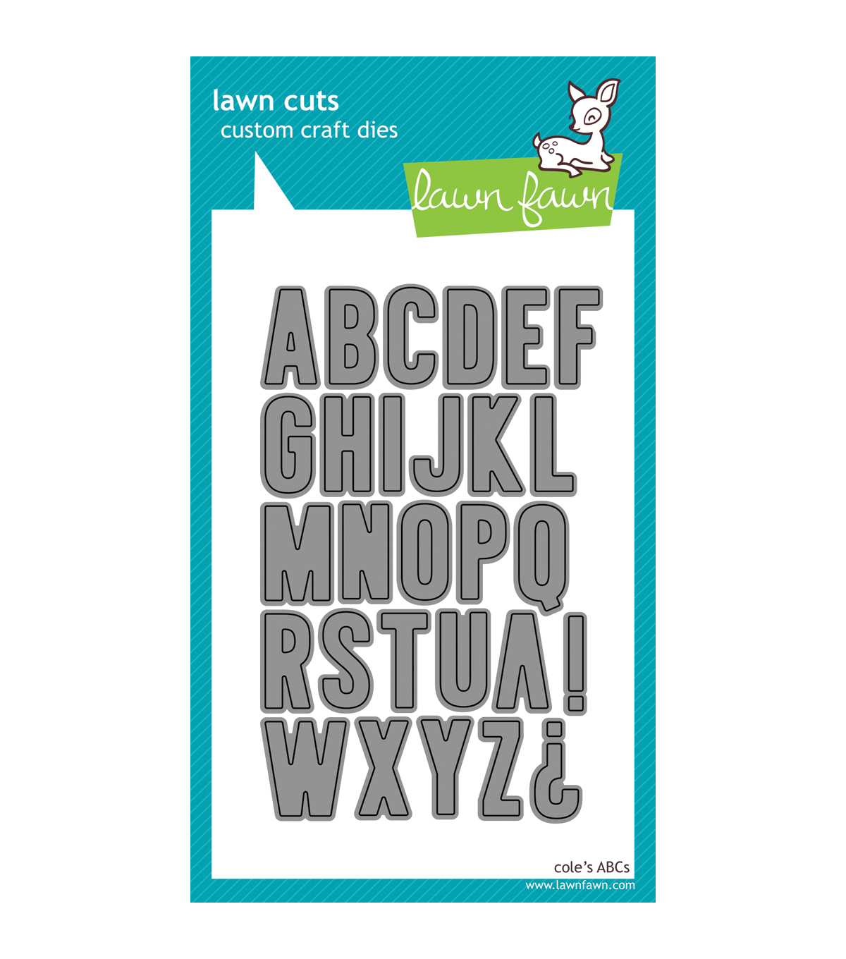Lawn Fawn Lawn Cuts Custom Craft Die-Cole\u0027s ABCs