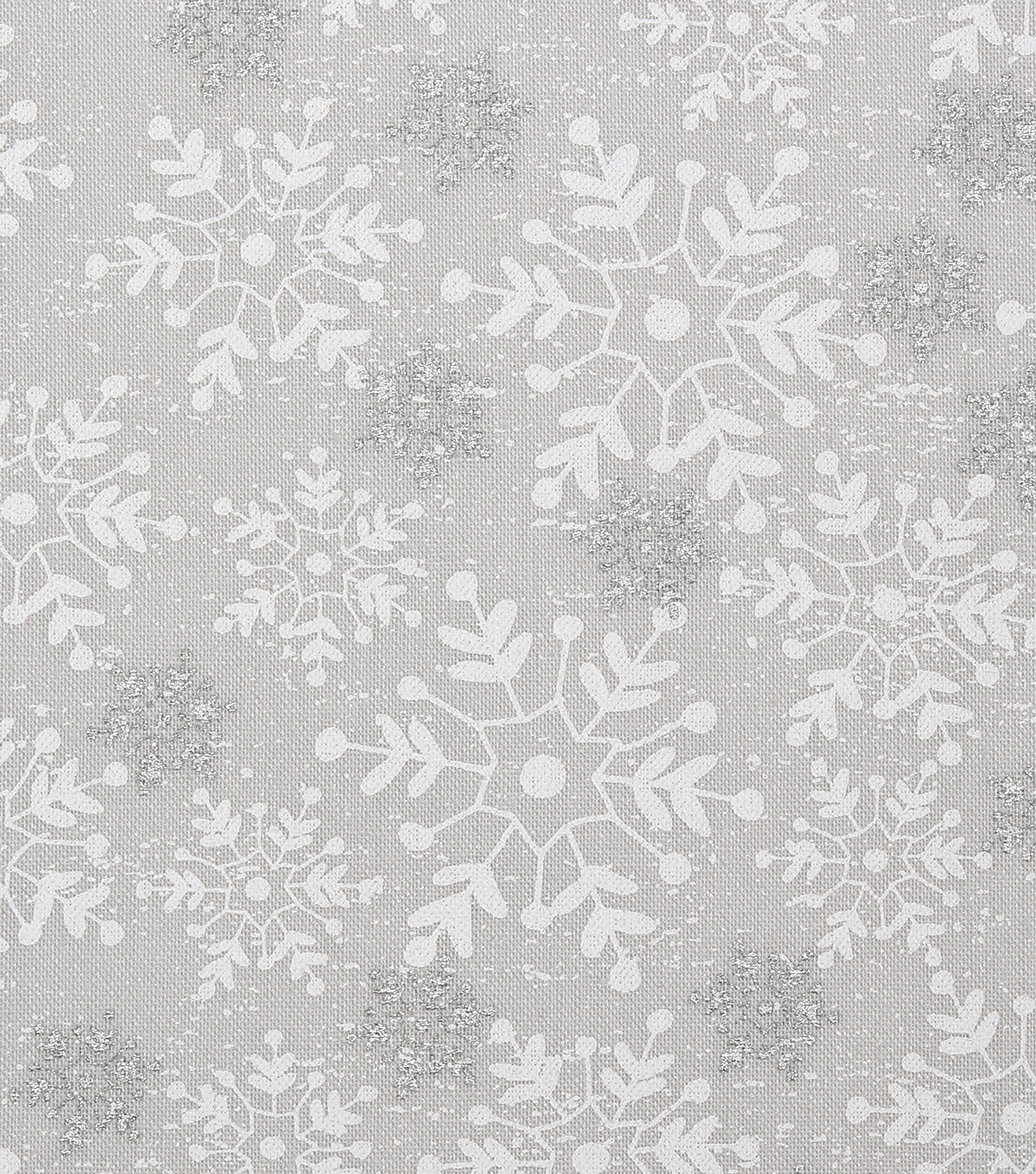 Christmas Cotton Fabric 43\u0022-Tossed Silver Snowflakes