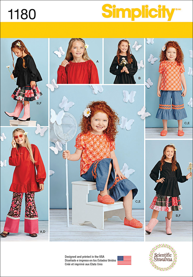 Simplicity Pattern 1180HH 3-4-5-6 -Children