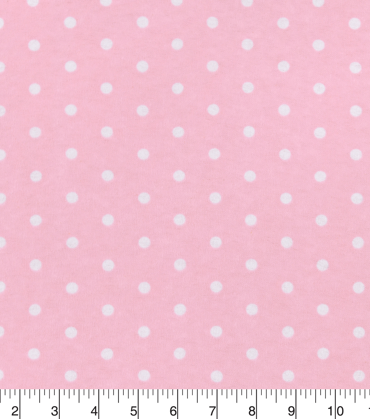 Snuggle Flannel Fabric -Dots on Rose Shadow