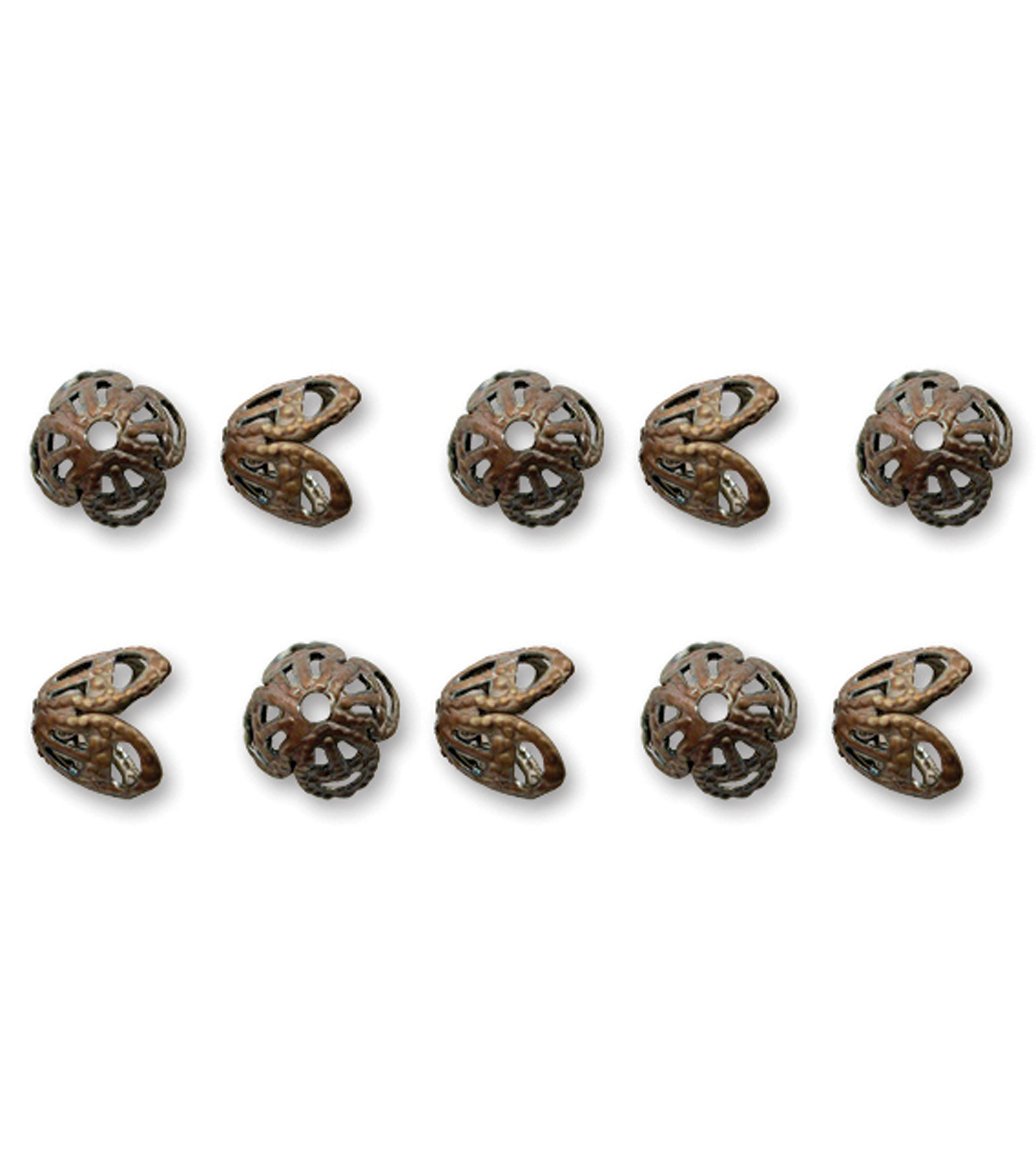 Vintaj Metal Bead Caps-Filigree 7mm