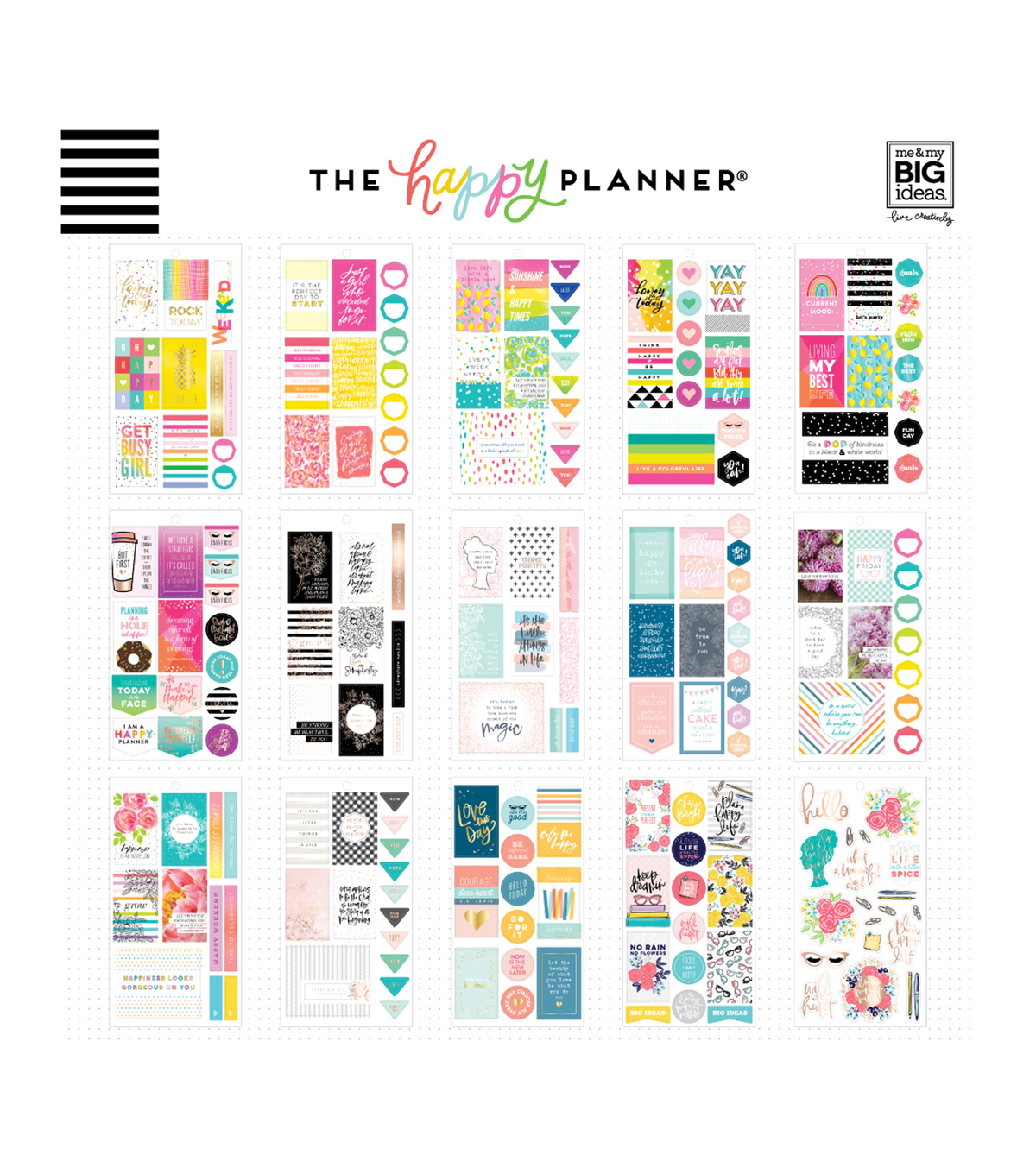 The Happy Planner 496 pk Stickers-Happy Quotes
