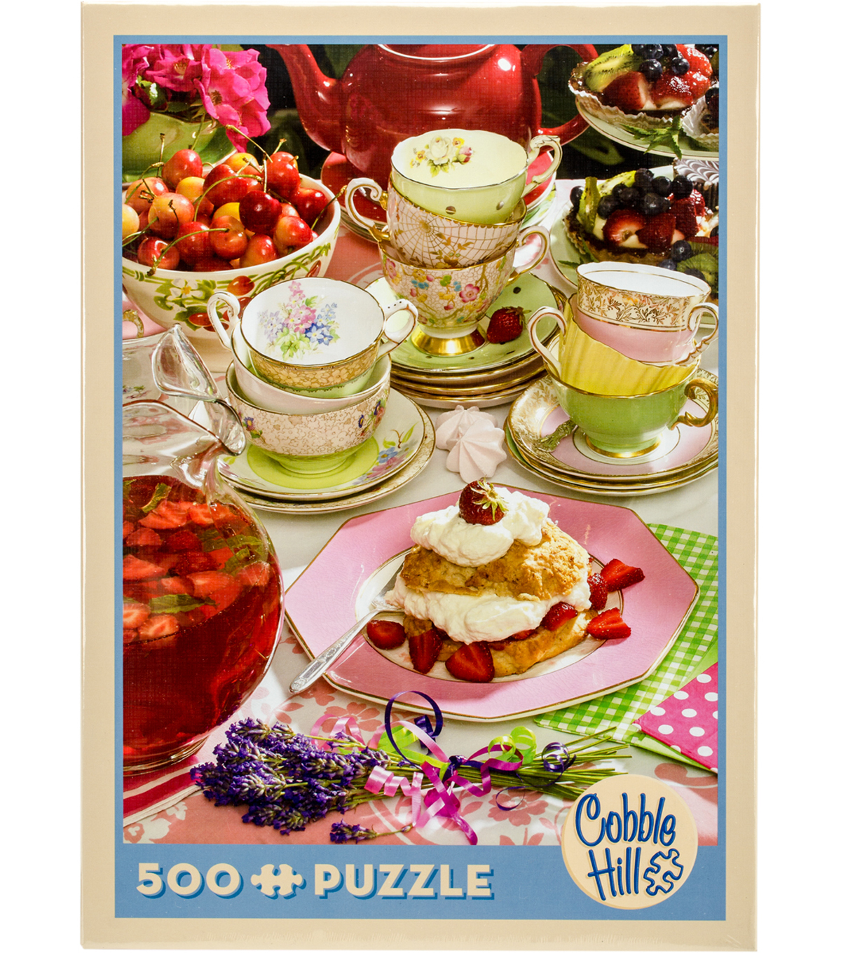 Jigsaw Puzzle 500 Pieces 24\u0022X18\u0022-Strawberry Tea