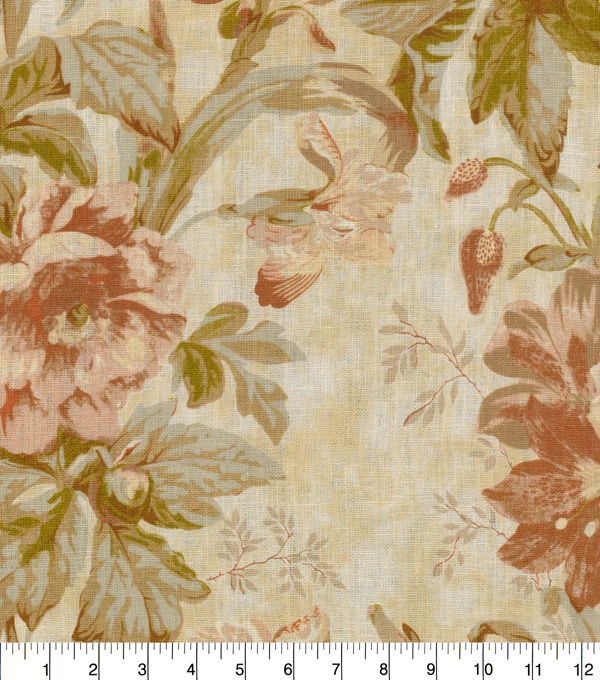 Waverly Multi-Purpose Décor Fabric-Kensington Bloom Amber