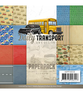 Find It Trading Amy Design Daily Transport 23 pk 6\u0027\u0027x6\u0027\u0027 Paper Pack