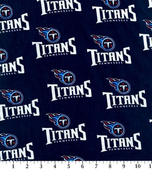 59318e75 Tennessee Titans Cotton Fabric -Logo