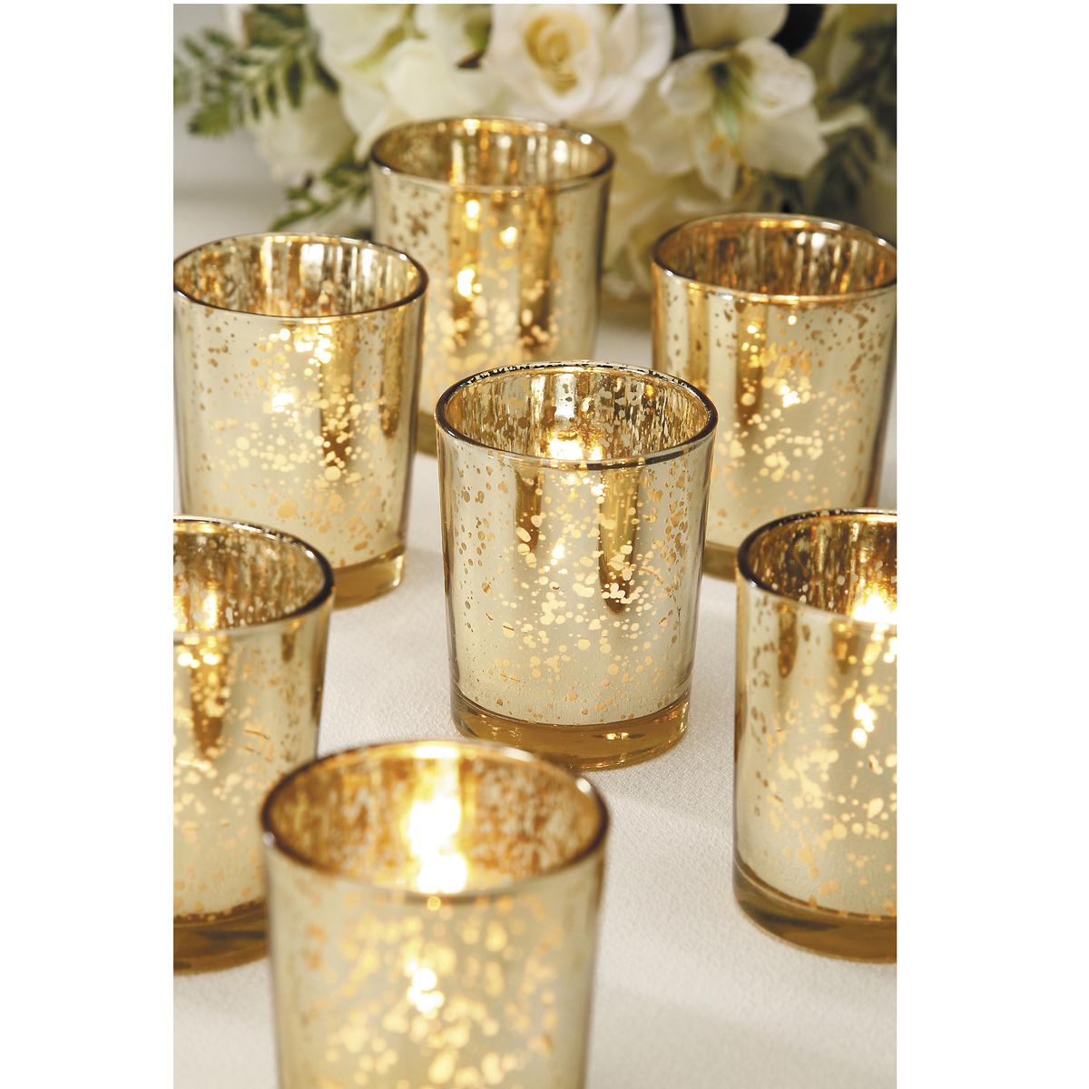 Gold Plated Glass Votives - Wedding Decor | JOANN