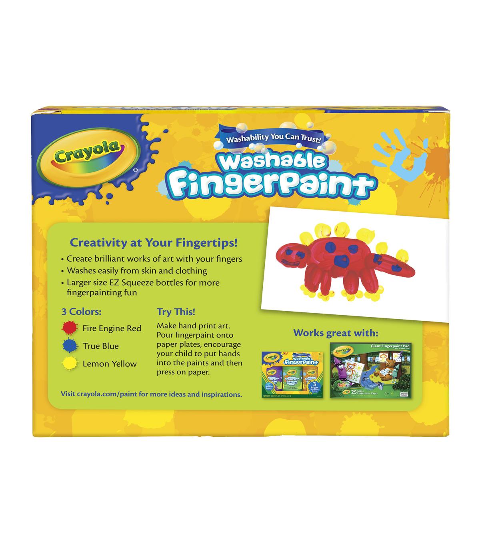 crayola washable finger paint 8oz 3 pkg primary colors joann