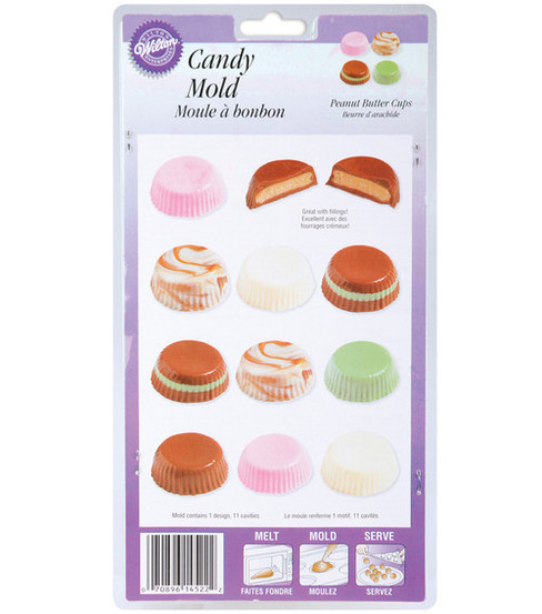 Wilton Candy Mold-Peanut Butter Cups